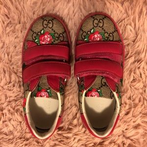 73efca9f45f Gucci Shoes - GUCCI Girls  GG  Rosebud Sneakers .